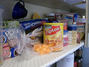 Packaged food with additives