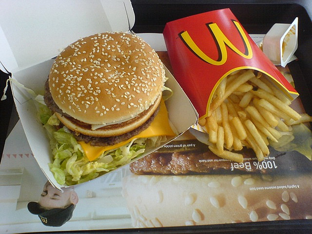 McDonalds Big Mac and Fries